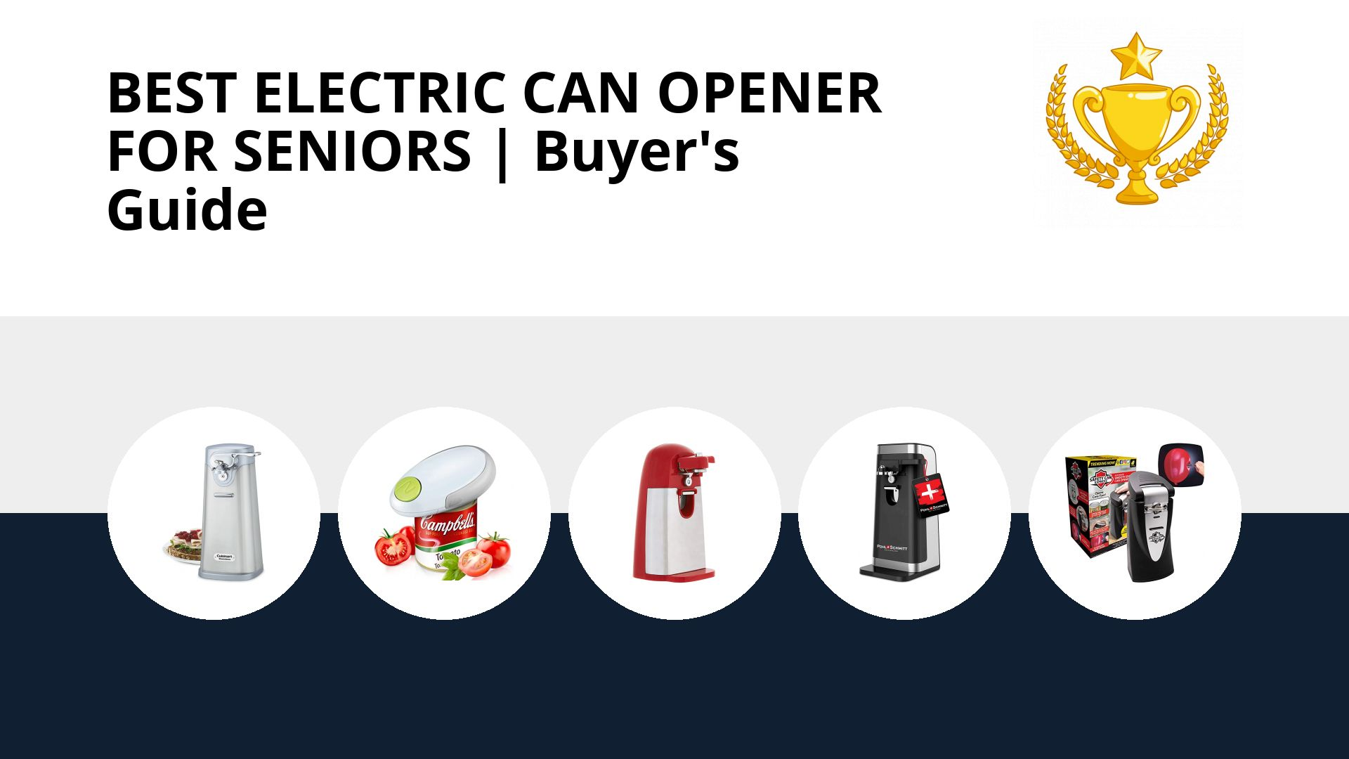 Best Electric Can Opener For Seniors: image